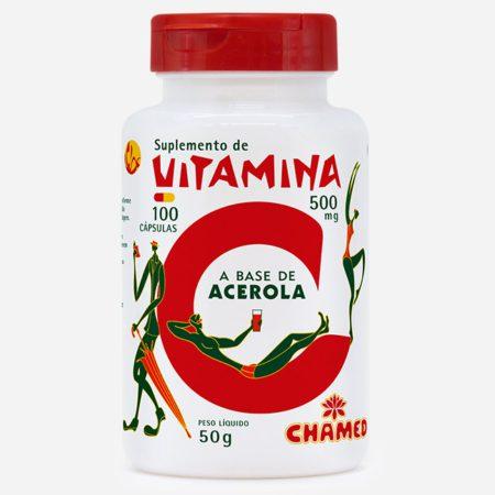 Vitamina C em cápsulas a base de acerola
