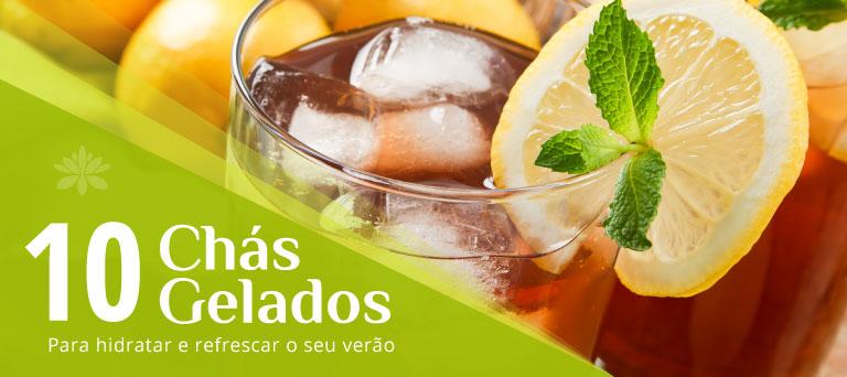 10 chás gelados para hidratar e refrescar o seu verão